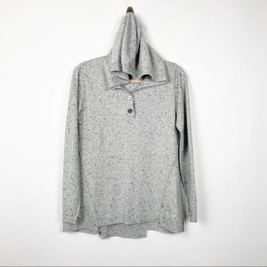 Kokun Hooded Wool Cashmere Sweater Gray #0557